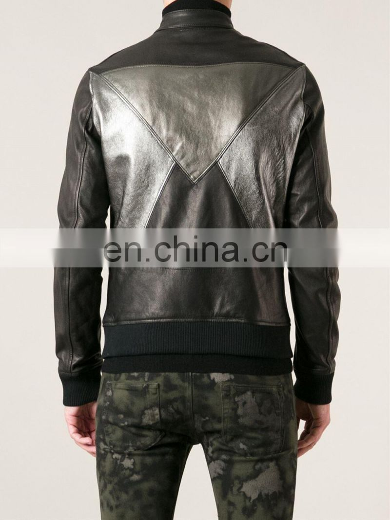 b06e8309e ... Leather Jacket, men's leather jackets with stand up collar, Genuine Leather  Jackets ...