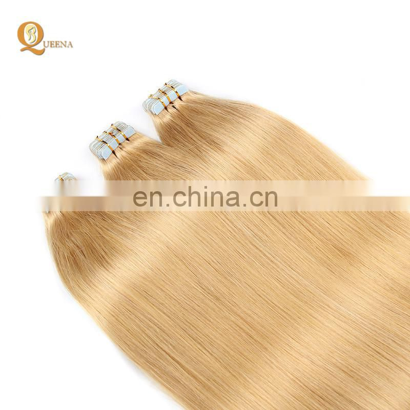 Wholesale PU Skin Weft Top Quality Tape In Human Hair Extension Remy Double Sided Adhesive Tape Hair Extension