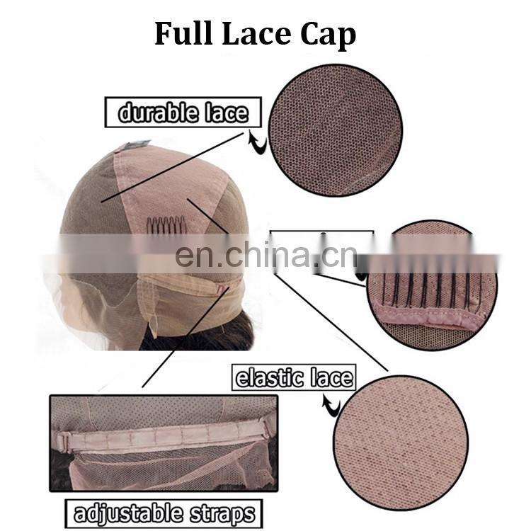 cheap lace front wig with baby hair body wave elastic band brazilian hair glueless full lace wig with side part