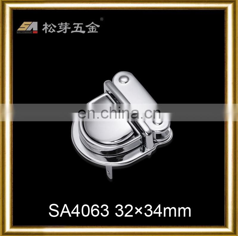 Hang plated customized metal magnetic bag clasps