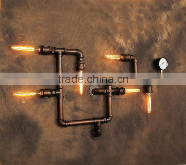 Wall decoration handmade wall lamp antique brown metal pressure wall decoration handmade wall lamp antique brown metal pressure gage faucets wall light water aloadofball Image collections