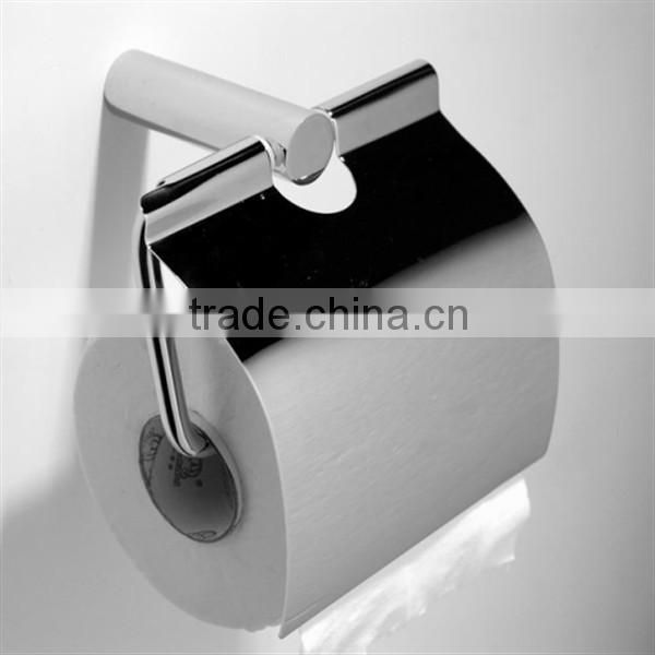 2015 China supplier bathroom brass toilet paper holder chrome finished paper towel holder