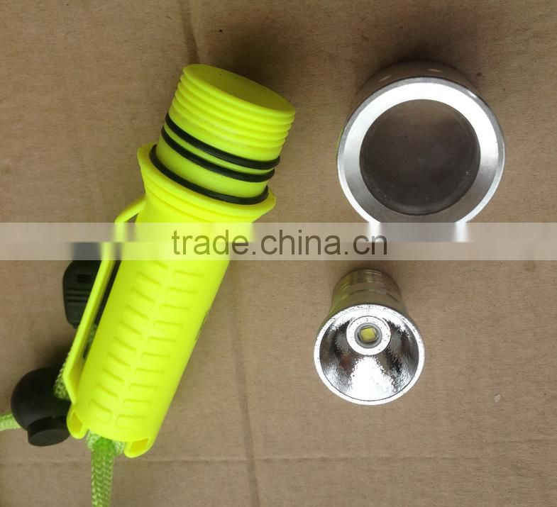 Wholesale xm-l T6 Diving Flashlight Flashlight Type and LED Light Source portable Diving lights