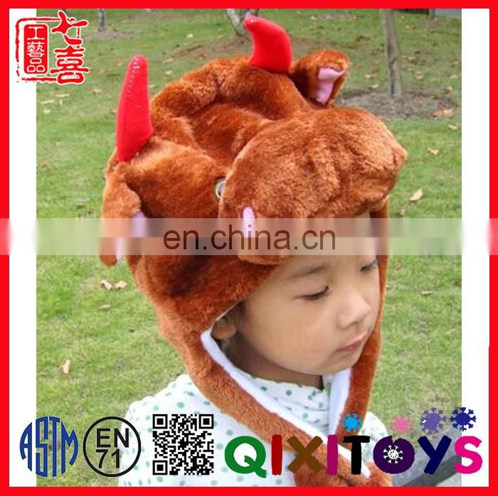Plush comfortable beautiful design fur hat animal ears