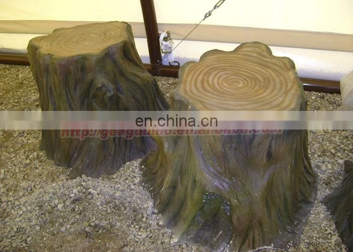 Outdoor amusement park garden tree stump stools