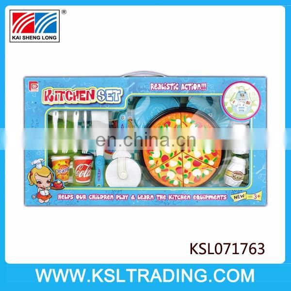 Novel design pizza kids kitchen set toy for sale