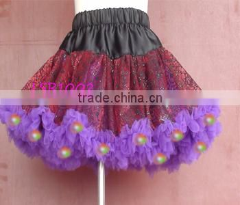 2016 christmas led tutu skirts baby girls,red and kelly green children shiny light dress clothing,lovely kids led bubble skirt Image