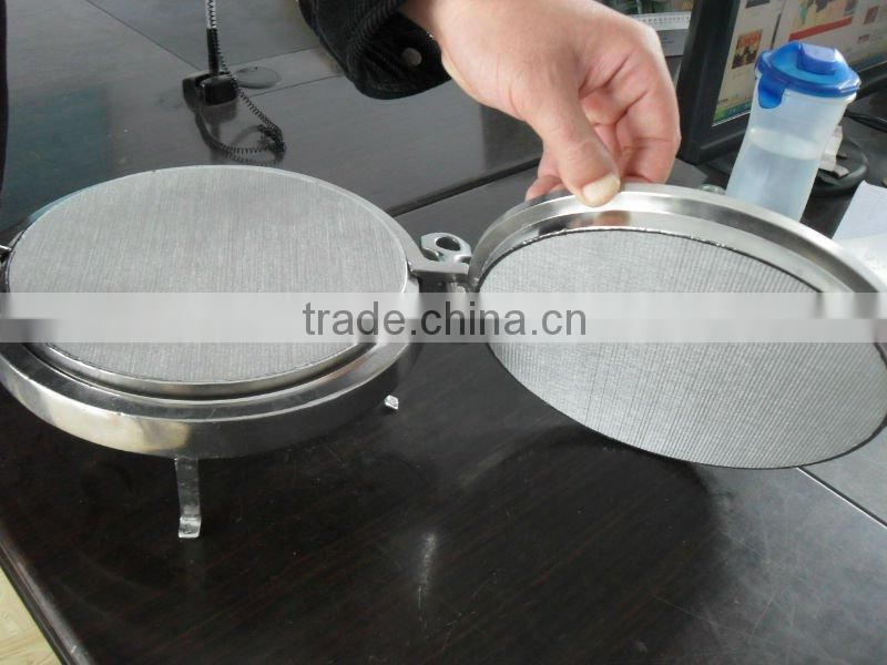 Pharmaceutical stainless steel sintered metal filter plate