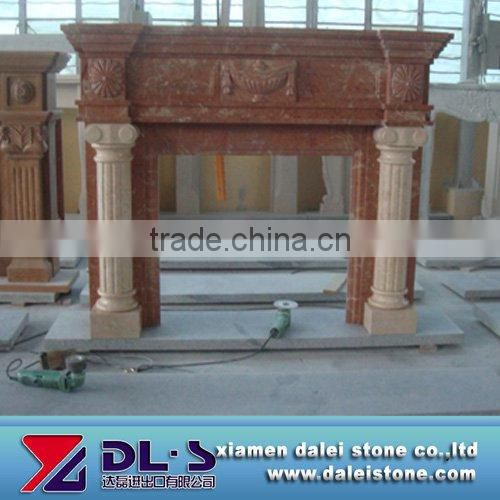 Marble fireplace mantel modern