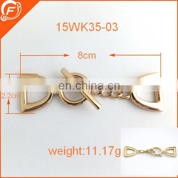 nickel free woman apparel sew on metal accessories for clothing