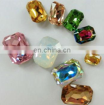 Octagon shape 10*14mm size crystal fancy stone for garment accessories