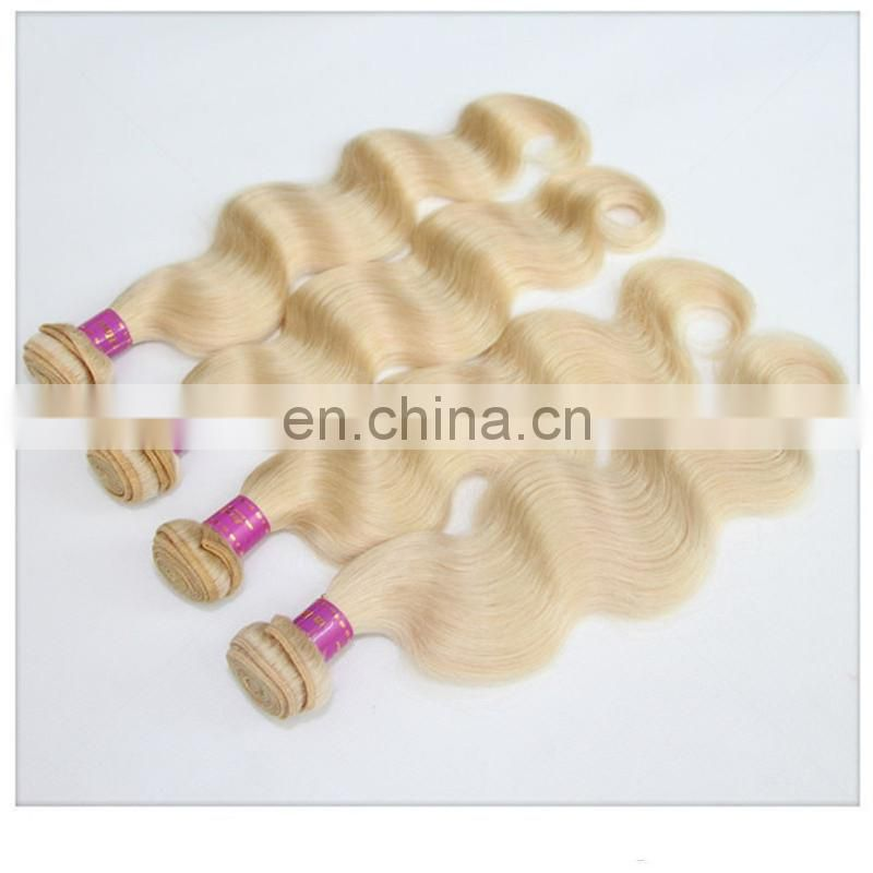 Top quality blonde color body wave hair no tangle no shedding brazilian hair extension