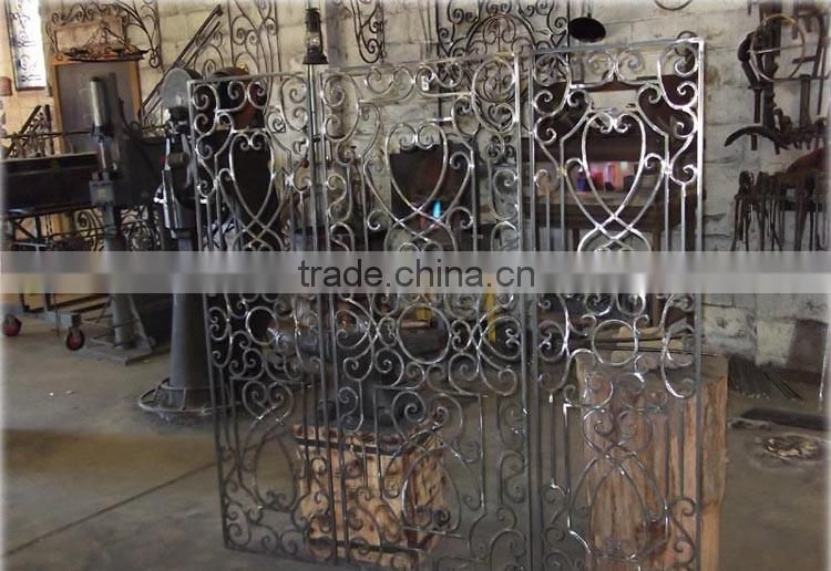 decorative home security Wrought Metal Gates/Custom Made Beautiful Wrought Iron Gates Models for Outdoor