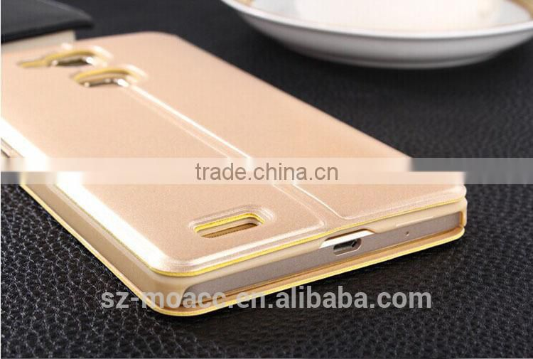 Factory direct sale window leather flip cover for huawei mate 7 case