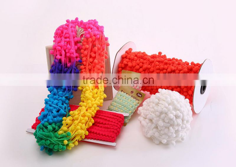 pompoms ball 2cm jumbo big neon rainbow changing shifting color puff multicolor pom pom trim