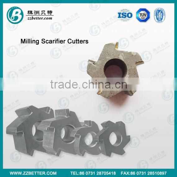 Scarifying Milling Cutters utilized for thermoplastic removal