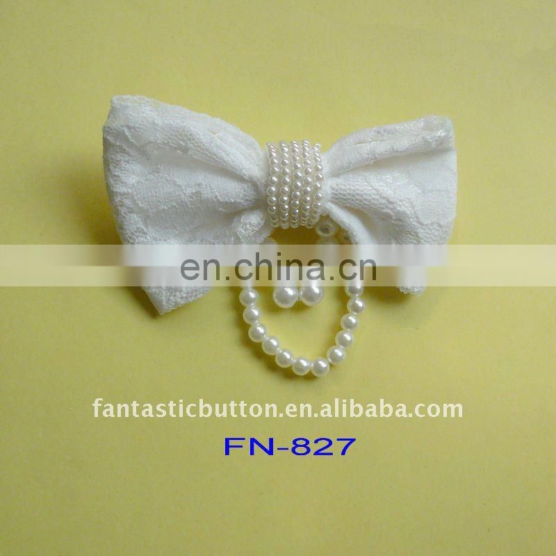 big bow design with pin fancy brooch for lady dress