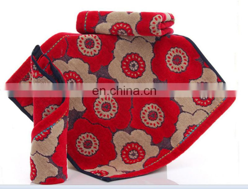 china supplier wholesale cutting velvet towel 100% cotton hand towel