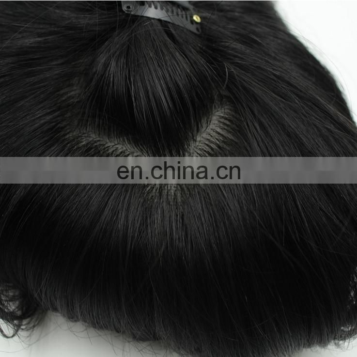 New style hair full silk base lace full hand weave unprocessed 15'' remy hair toupee