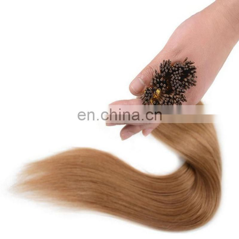 Best selling pre-bonded human hair extension popular I tip hair high quality peruvian hair