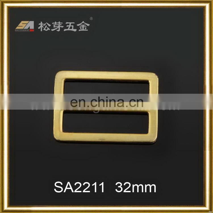 Super quality hot-sale gold double pin belt buckle