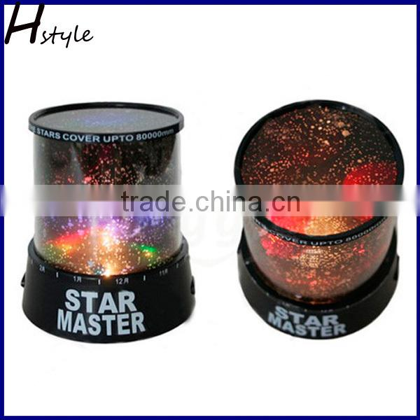 LED Night Light Projector Lamp With Colorful Sky Star Scene, Bed Side Lamp With USB Cable SNL003
