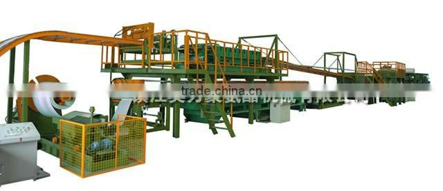 Polyurethane sandwich panel production line