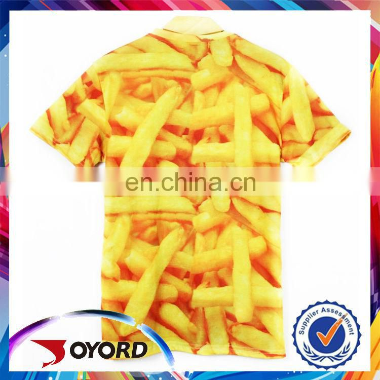 Soft-touch plain sublimation polyester t-shirt