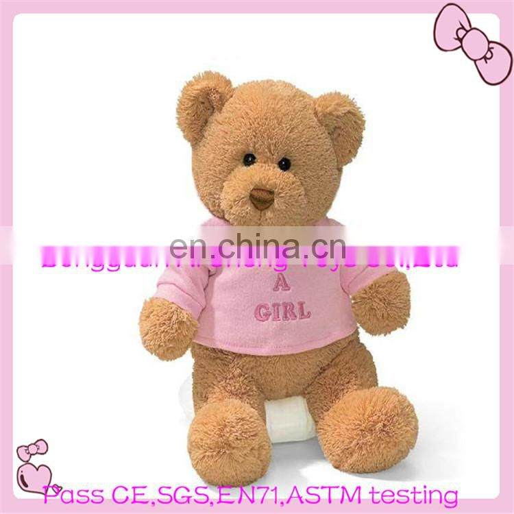 custom plush teddy bear backpack for kids CE testing