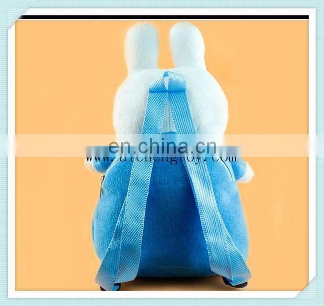Lovely design Toy Plush backpack/Kids stuffed animal plush backpack toy