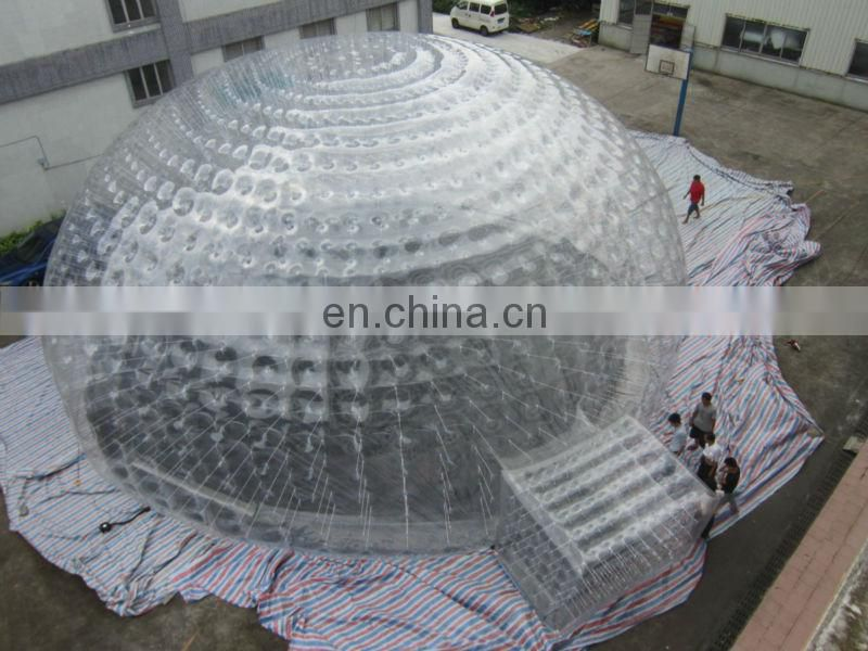 Wonderful design giant inflatable bubble tent, giant dome tent, air tight dome