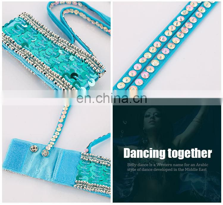 Sequins beaded performance women belly dance decoration arm chain accessory P-9066#