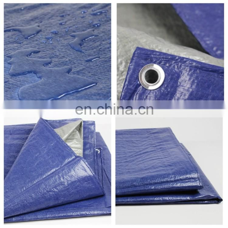 Blue PE Sun Shading Waterproof Tarp With All Kinds Of Tarpaulin Sizes