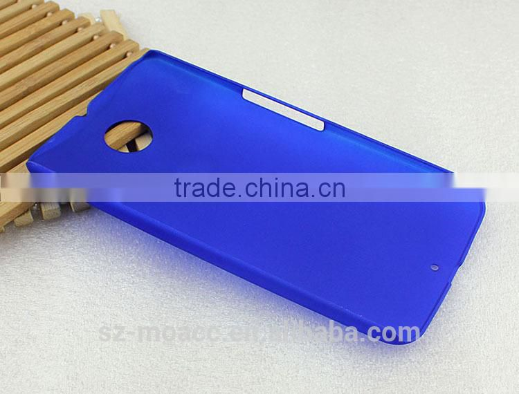 Factory price rubber coating mobile phone Hard pc case for google nexus 6
