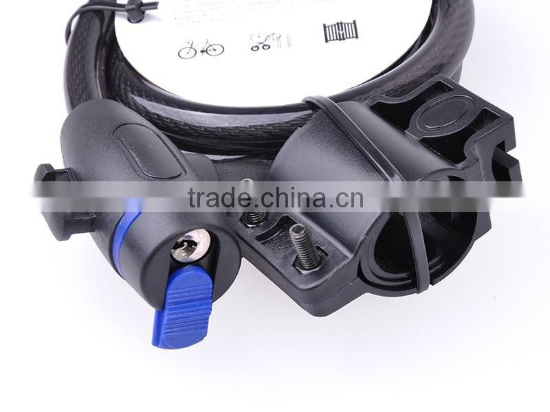 Durable and Cheap Electric Bicycle Cable Lock with Key