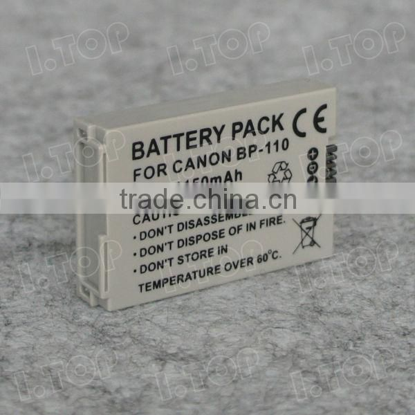 High Quality Camera Battery BP-110 Battery for Canon VIXIA HF R20 R21 R26 R28 R220 R206 XF105