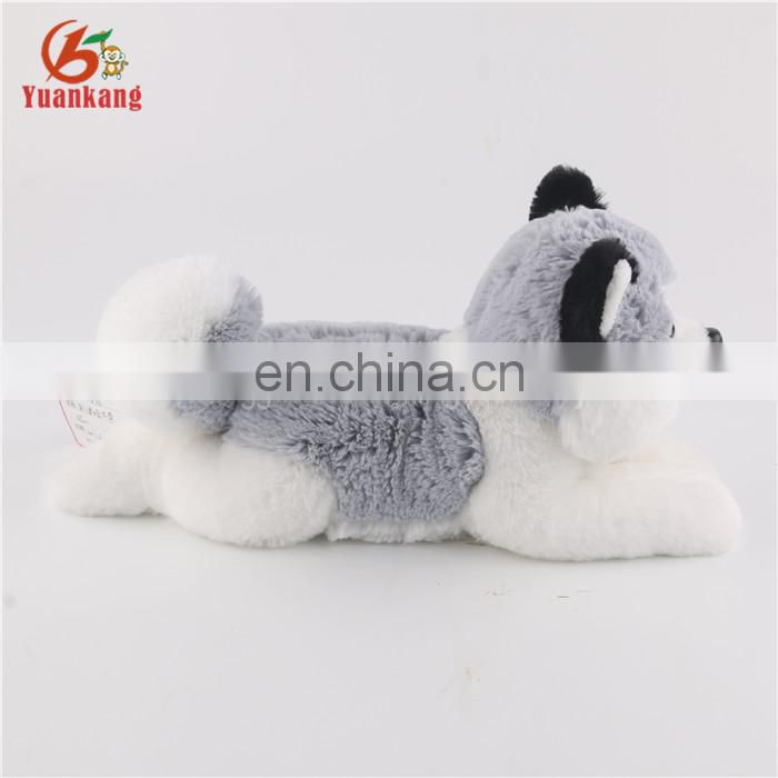 OEM Custom Lovely Big Eyes Lifelike Plush Stuffed Animal Huskie Dog