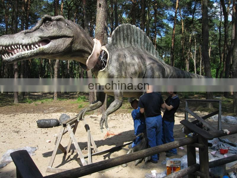 Adults robotic realistic dinosaur cosplay costume for dinosaur parks