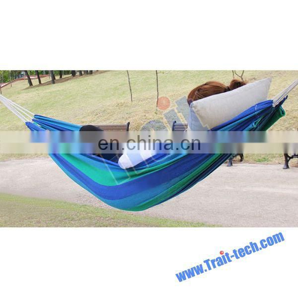 Wholesale Cotton Stripe Outdoor Portable Hammock Prices Cheap Swing Bed