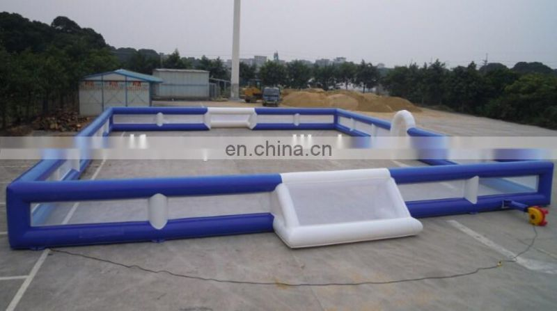 2015 Hot sale soccer field/customized inflatable football pitch/inflatable football field