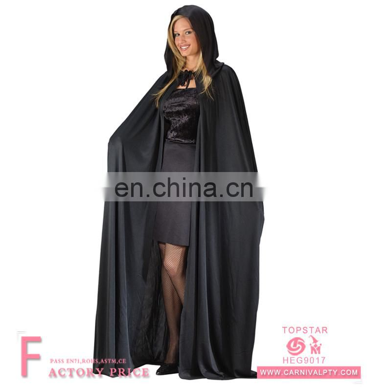 Deluxe Witch Clown Gown Adult Women Hooded Cloaks Capes Halloween Costumes Hooded Cloak