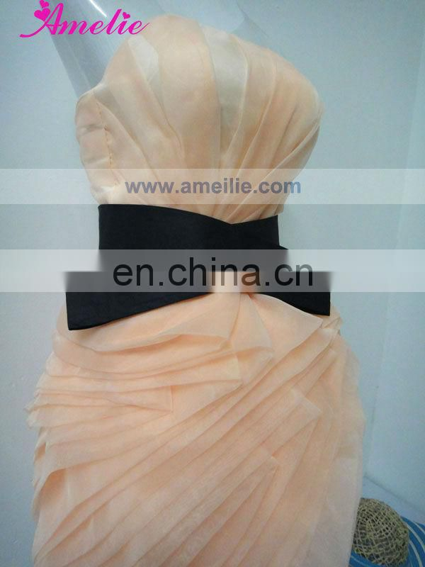 Handmade Flower Organza Real Pictures Of Cocktail Dress
