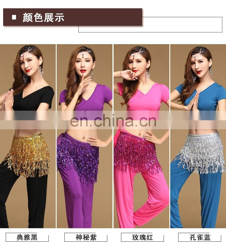 T-5169 Arabic practice moal belly dance top and pant suit
