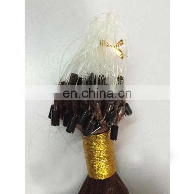 Top quality body wave micro loop hair extension