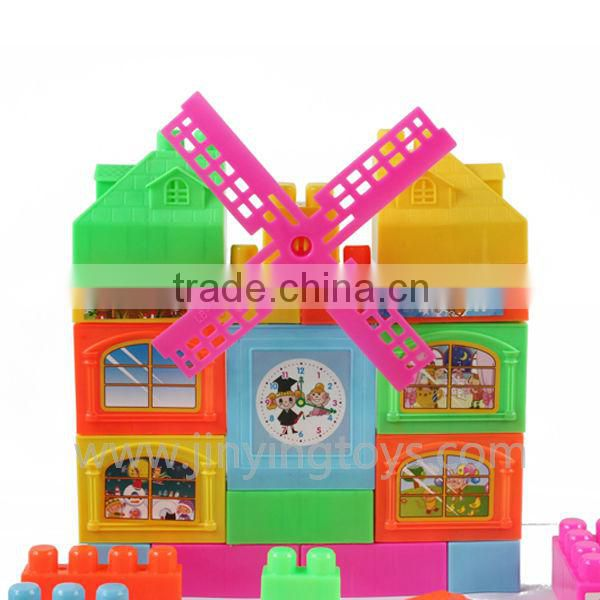 2015 hot sale plastic toy building blocks play set for kids