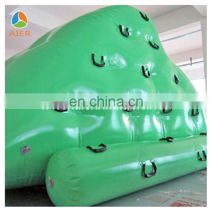 Funny floating inflatable water rock climbing wall
