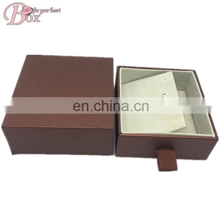 Square High-grade Gift Jewelry Box with The Drawer