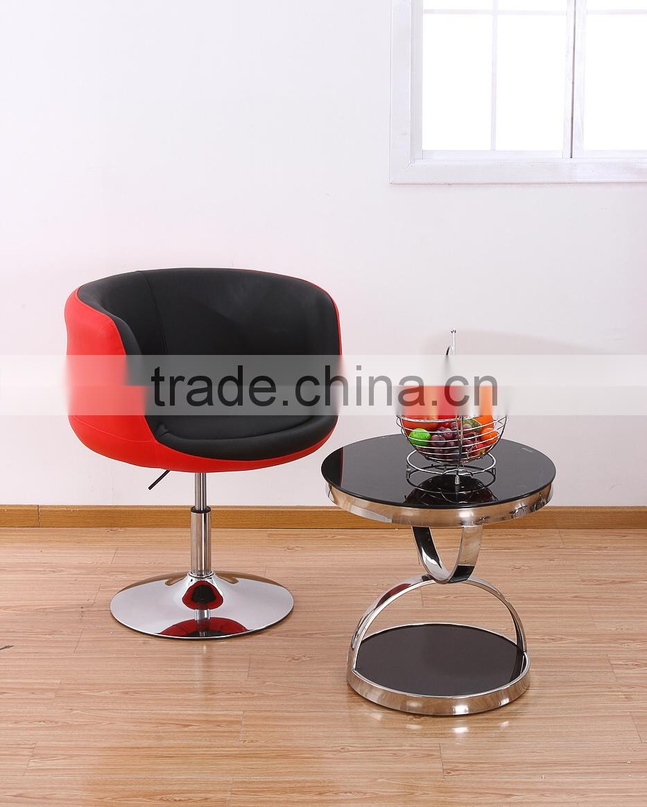 modern bar stool high chair, cheap leather bar stool furniture PBC14713