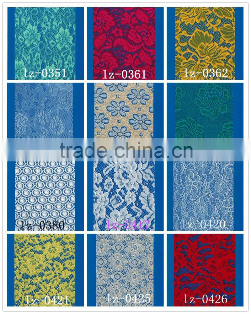 Floral lace george fabric indian beaded fabrics nylon rayon lace fabric in rolls for dress