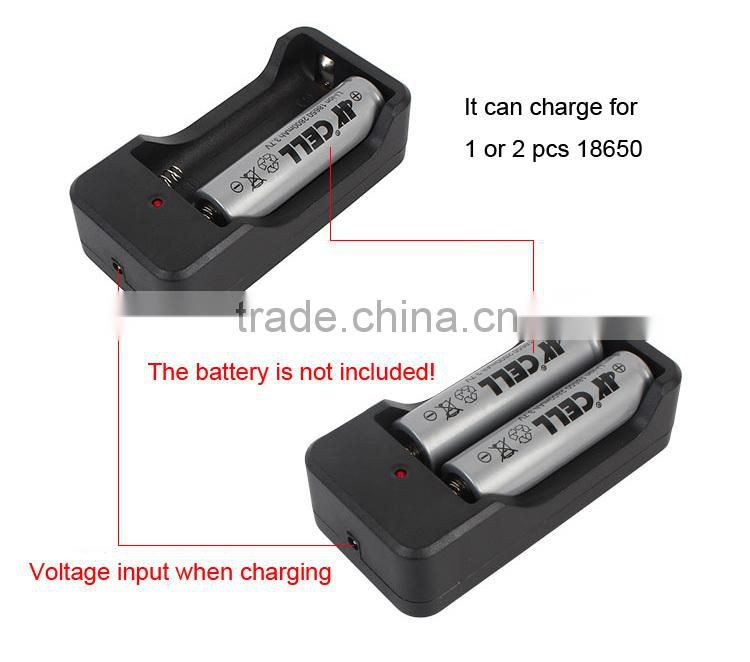 Passerby P51 1 or 2 18650 Rechargeable Battery Case Portable with 3.5mm socket battery base